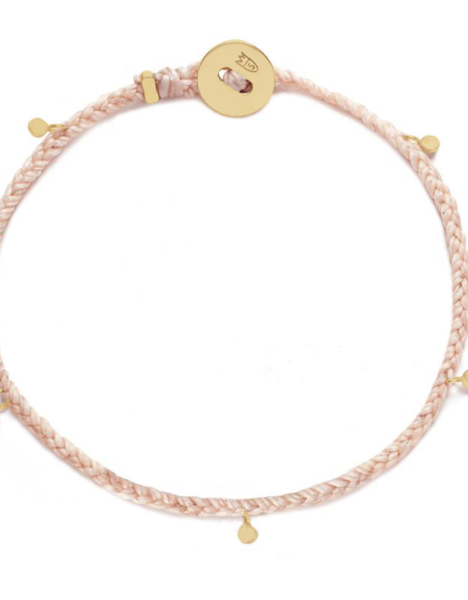 Scosha Fairy Bead Signature Brass Bracelet - Ballet
