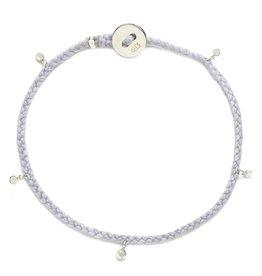 Scosha Fairy Bead Signature Silver Bracelet - Lavender
