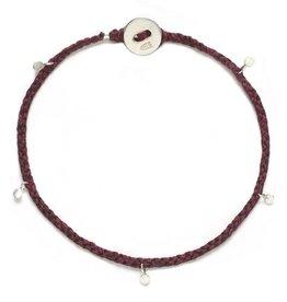 Scosha Fairy Bead Signature Silver Bracelet - Plum