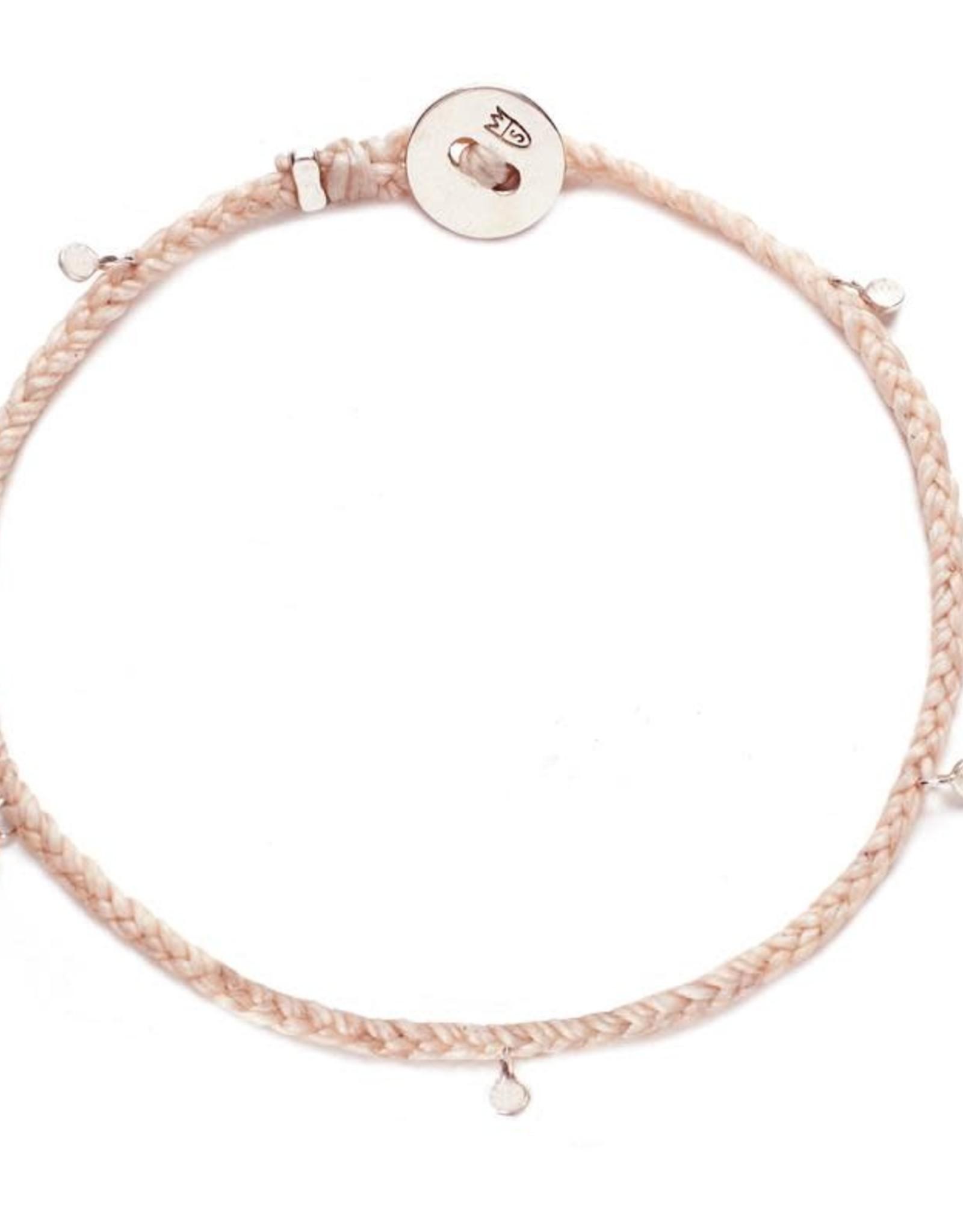 Scosha Fairy Bead Silver Bracelet - Ballet