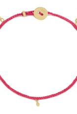 Scosha Fairy Bead Vermeil Bracelet - Fuschia