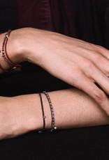 Scosha Fairy Bead Signature Brass Bracelet - Fuschia