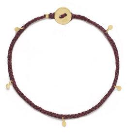 Scosha Fairy Bead Signature Brass Bracelet - Plum