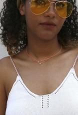Scosha Carnival Diamond Necklace - White + Neon Peach