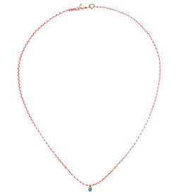 Scosha Carnival Turquoise Necklace - White + Neon Pink