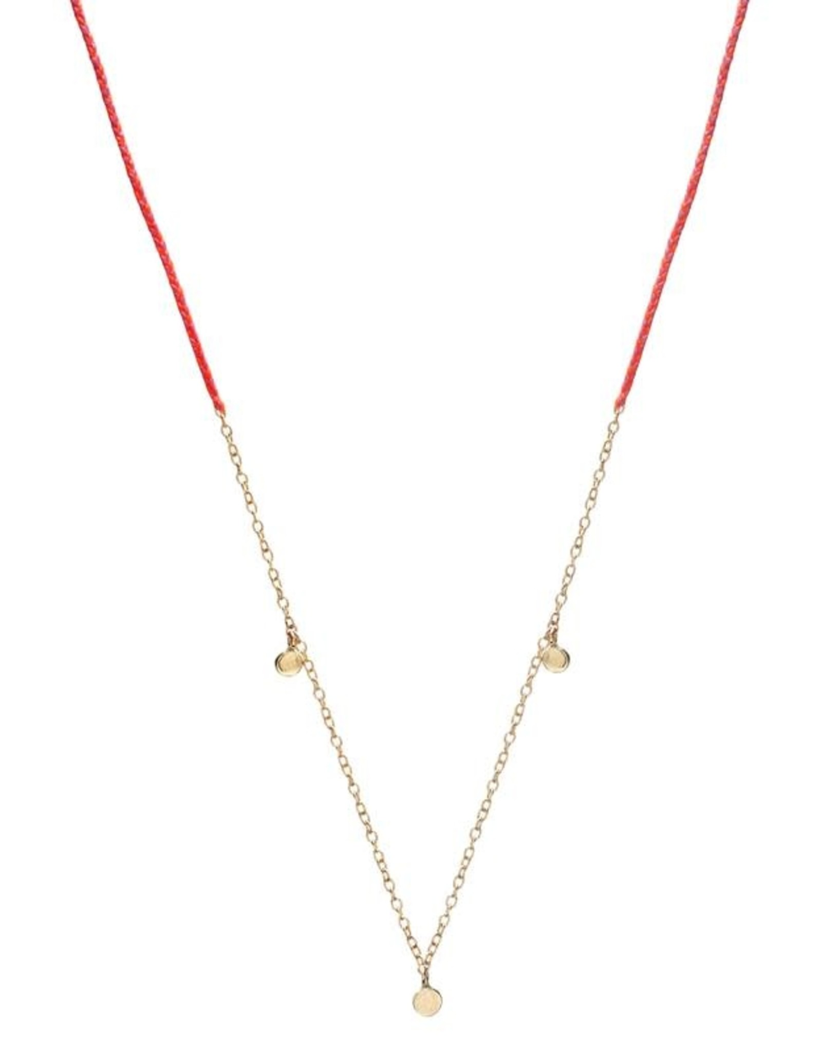 Scosha Precious Fairy Chain Necklace - Hot Pink + Neon Pink