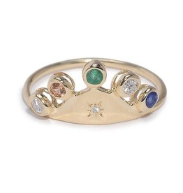 Scosha Fairy Hat Ring - Mixed Stones