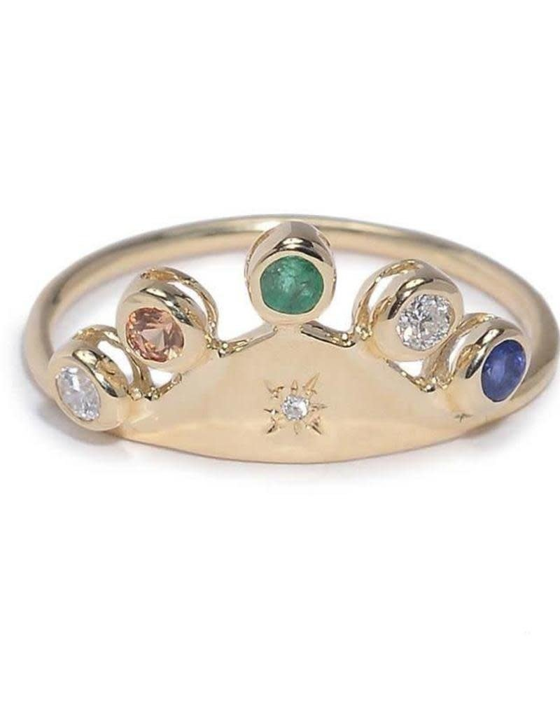 Scosha Fairy Hat Ring - Mixed Stones
