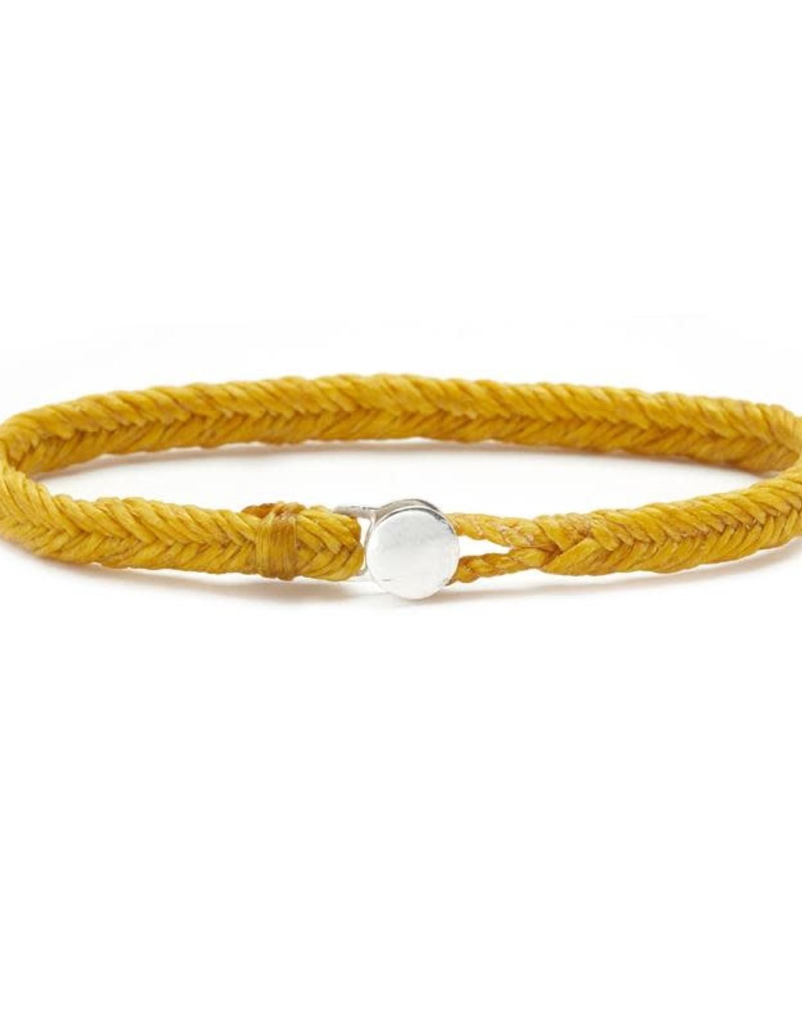 Scosha Fishtail Button Silver Bracelet - Mimosa