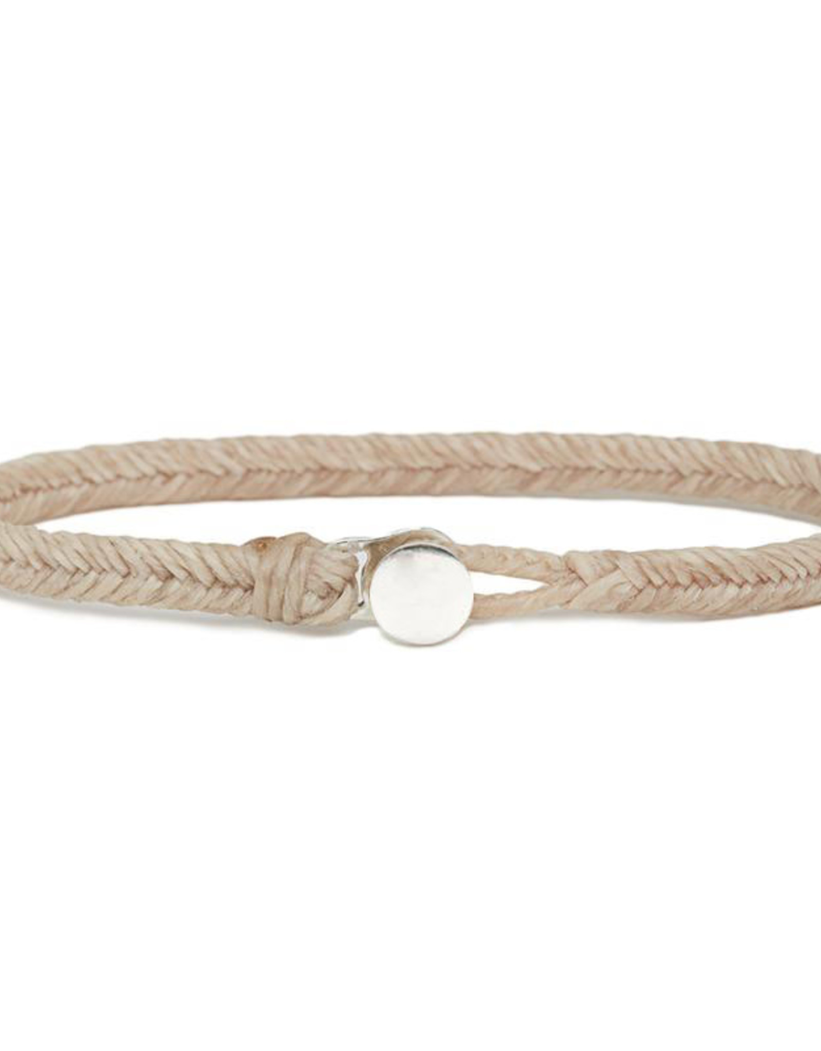 Scosha Classic Fishtail Silver Button  Bracelet - Natural