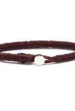 Scosha Fishtail Button Silver Bracelet - Plum