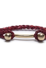 Scosha Rope Braid Brass Cuff - Cherry Blossom
