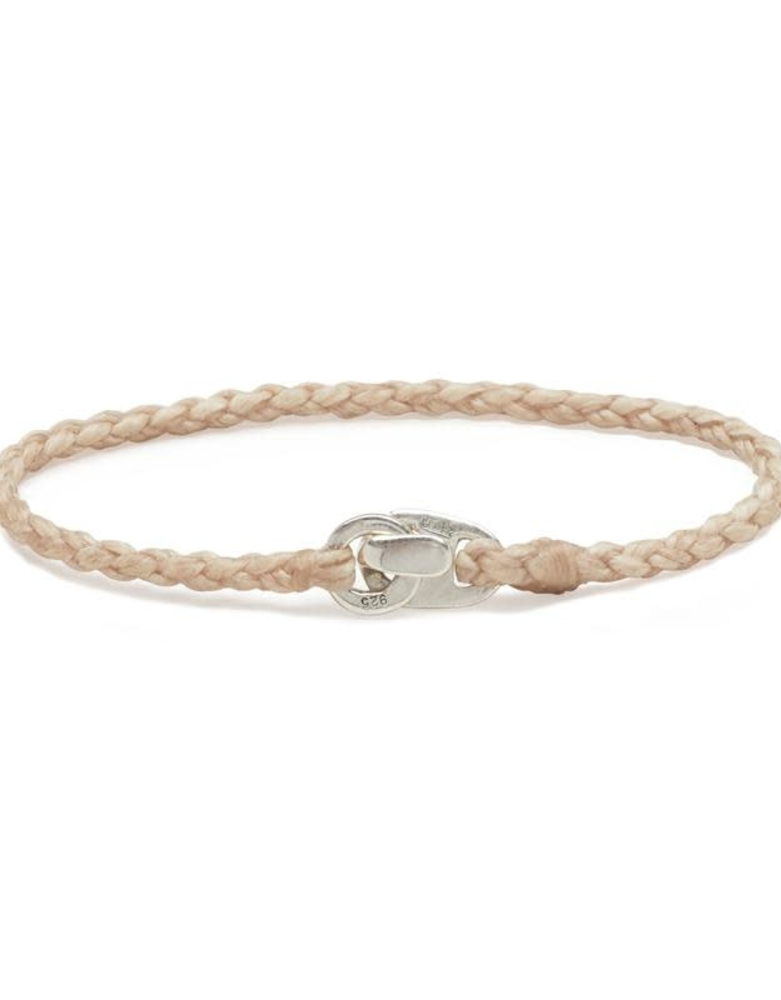 Scosha Single Wrap Silver Bracelet - Natural