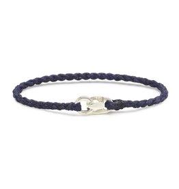 Scosha Single Wrap Silver Bracelet - Indigo