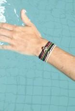 Scosha Single Wrap Silver Bracelet - Olive