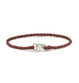 Scosha Single Wrap Silver Bracelet - Rust