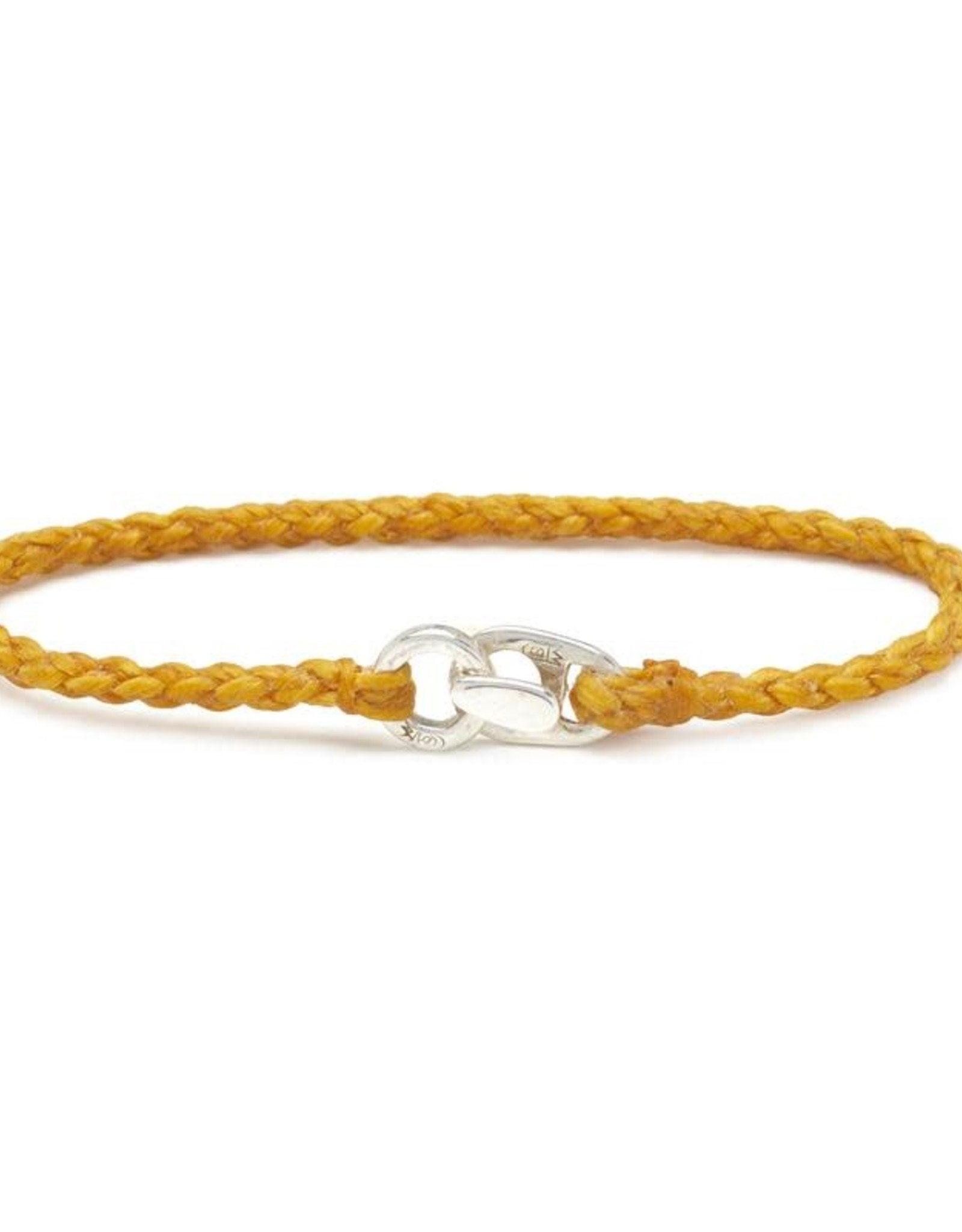 Scosha Single Wrap Silver Bracelet - Mimosa