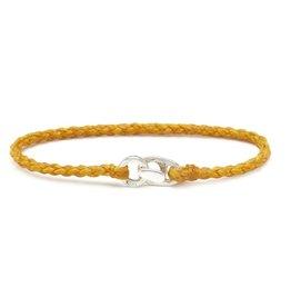 Scosha Single Wrap Silver Bracelet - Mimosa