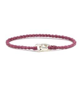 Scosha Single Wrap Silver Bracelet - Berry