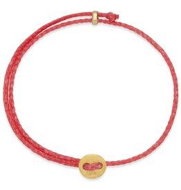 Scosha Signature Brass Slider Bracelet - Scarlet