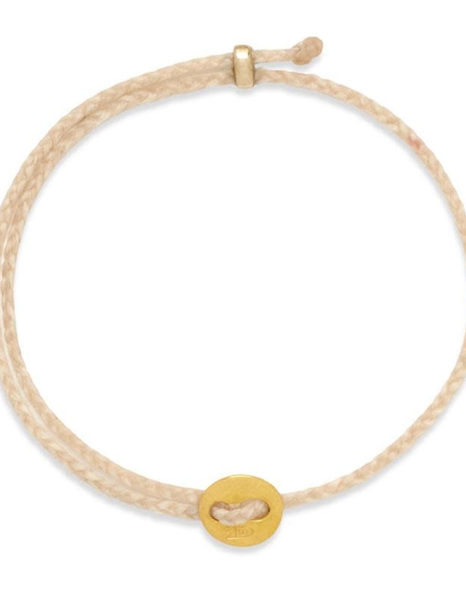 Scosha Signature Brass Slider Bracelet - Natural