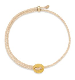 Scosha Signature Brass Slider Bracelet - Natural