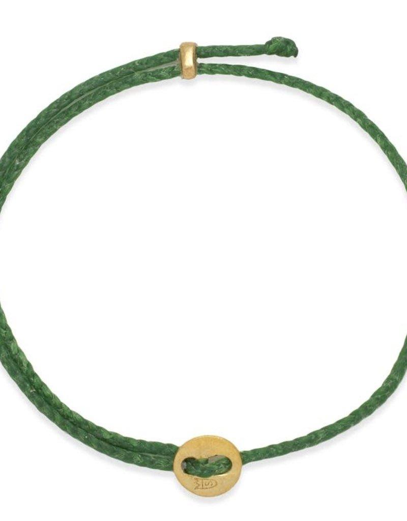 Scosha Signature Brass Slider Bracelet - Kelly