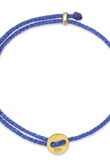 Scosha Signature Brass Slider Bracelet - Royal Blue