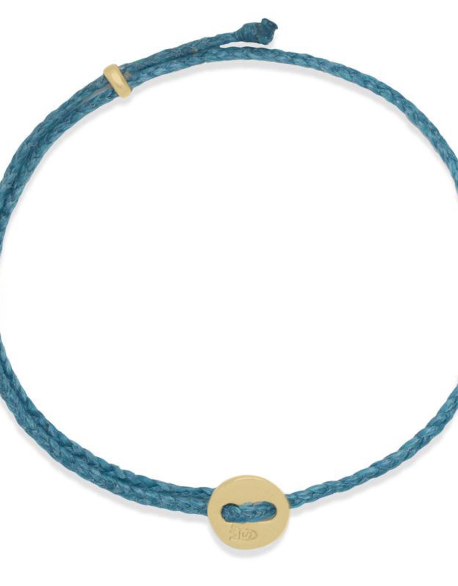 Scosha Signature Brass Slider Bracelet - Turquoise