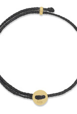 Scosha Signature Brass Slider Bracelet - Black