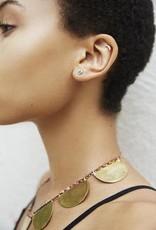 Scosha Classic Gold Heart Stud - Diamond