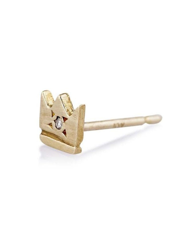 Scosha Gold Crown Stud - Diamond