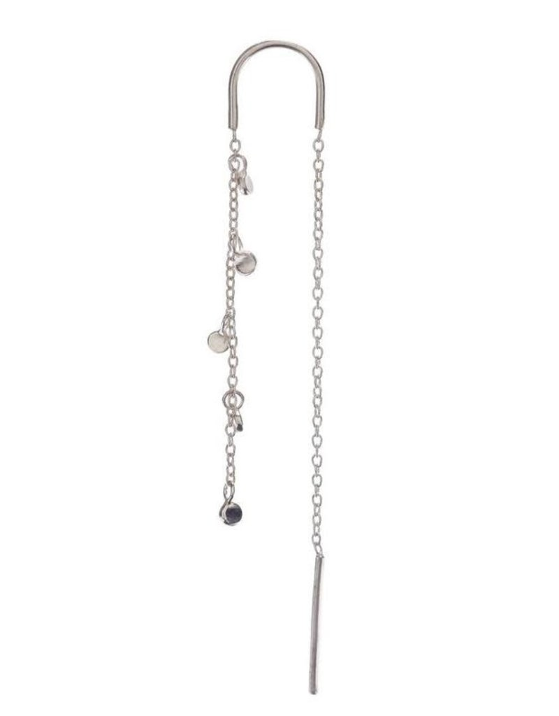 Scosha Silver Fairy Bead Thread-Through Earring
