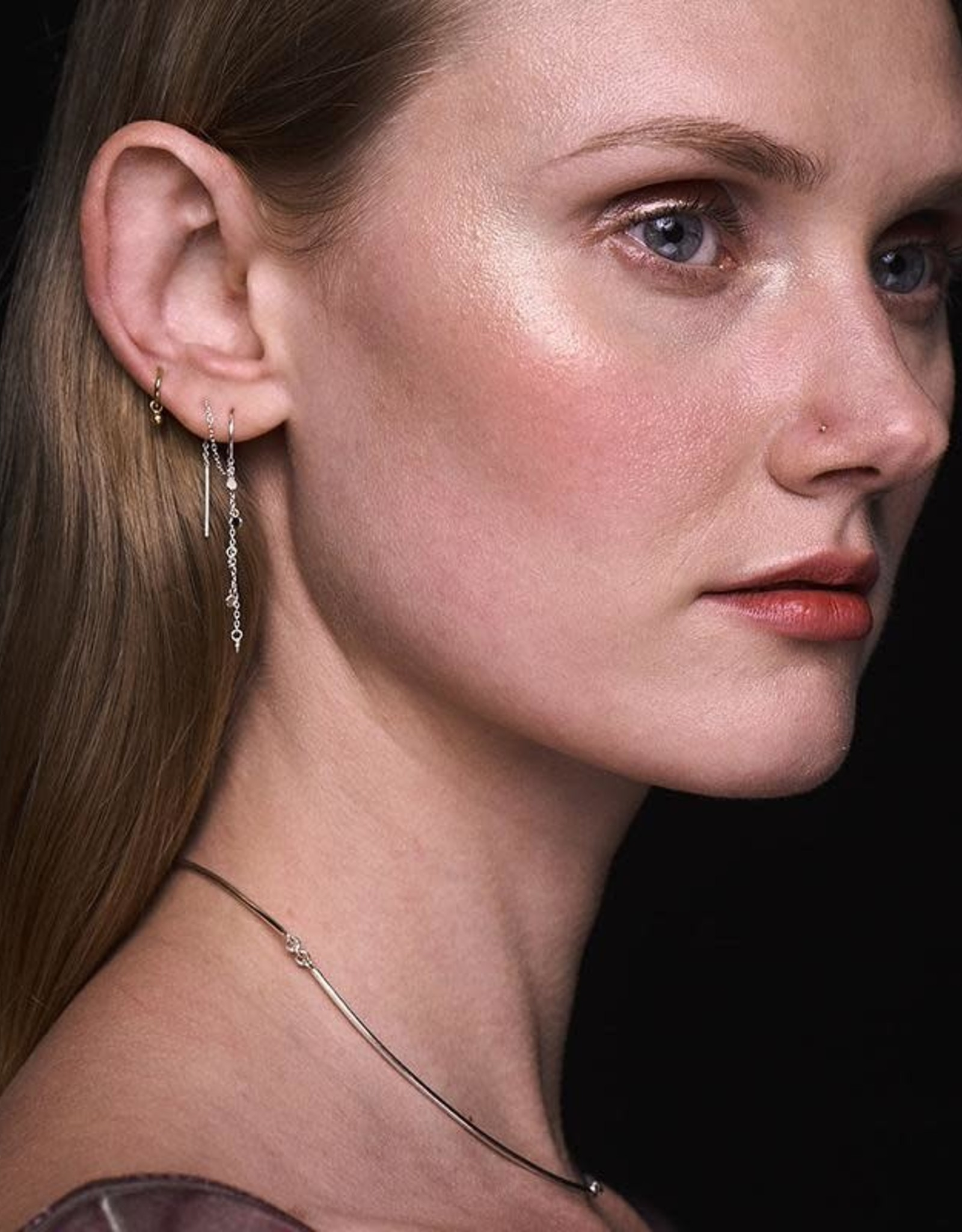Scosha Silver Fairy Bead Thread-Through Earring