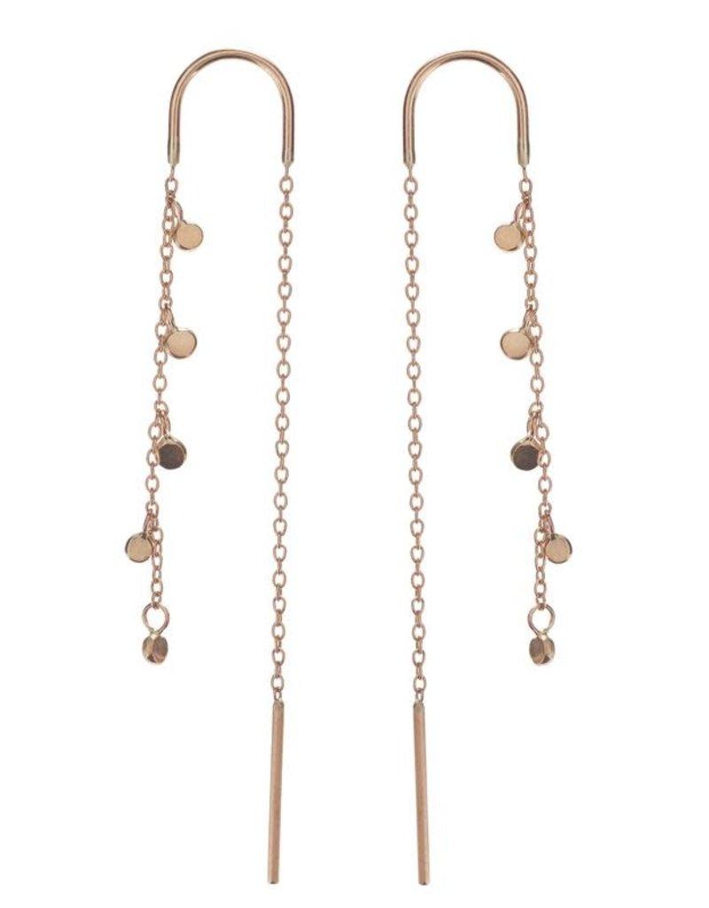 Scosha Gold Fairy Bead Thread-Through Earring