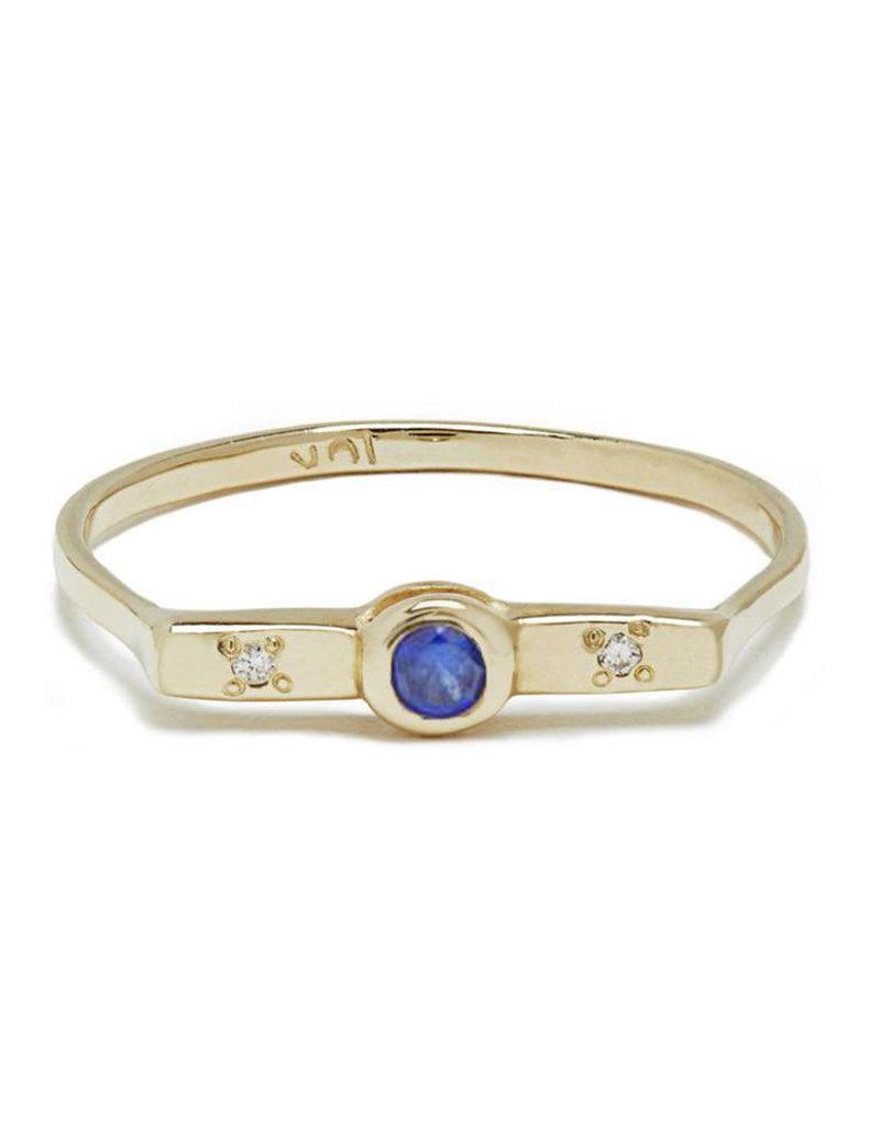 Scosha Wish Band - Sapphire + Diamonds