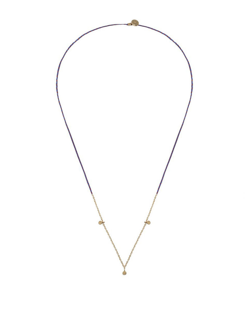 Scosha Precious Fairy Chain Necklace - Royal Blue + Scarlet