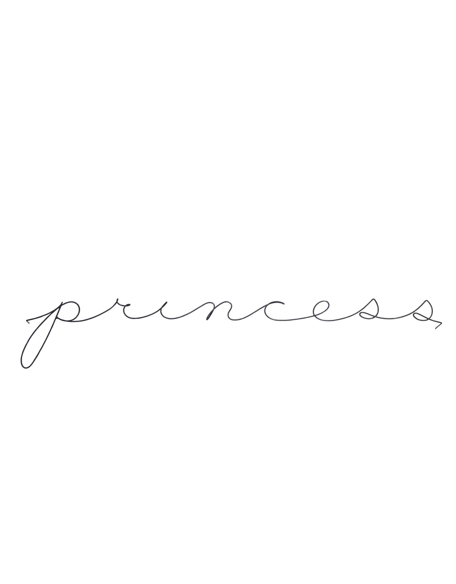 Gauge NYC 'princess' Wire Word Poetic