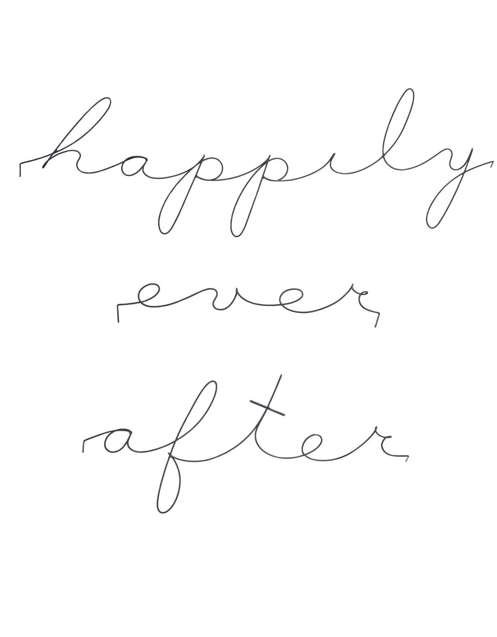 Gauge NYC 'happily ever after' Wire Word Poetic