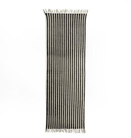 French Ticking Rug - Black + White