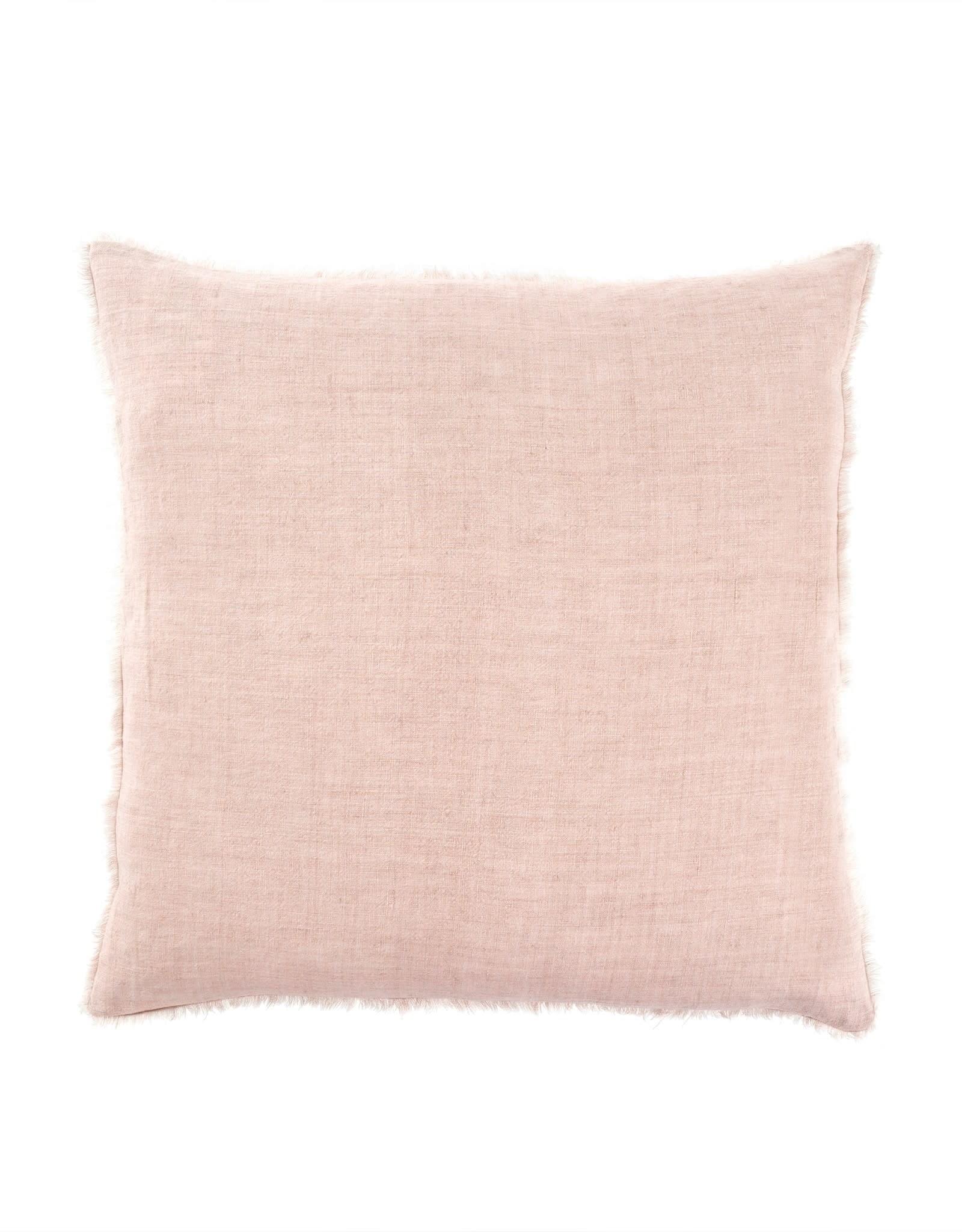 Indaba Lina Linen Pillow - Dusty Rose