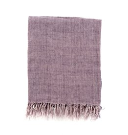 Lina Linen Throw - Heather