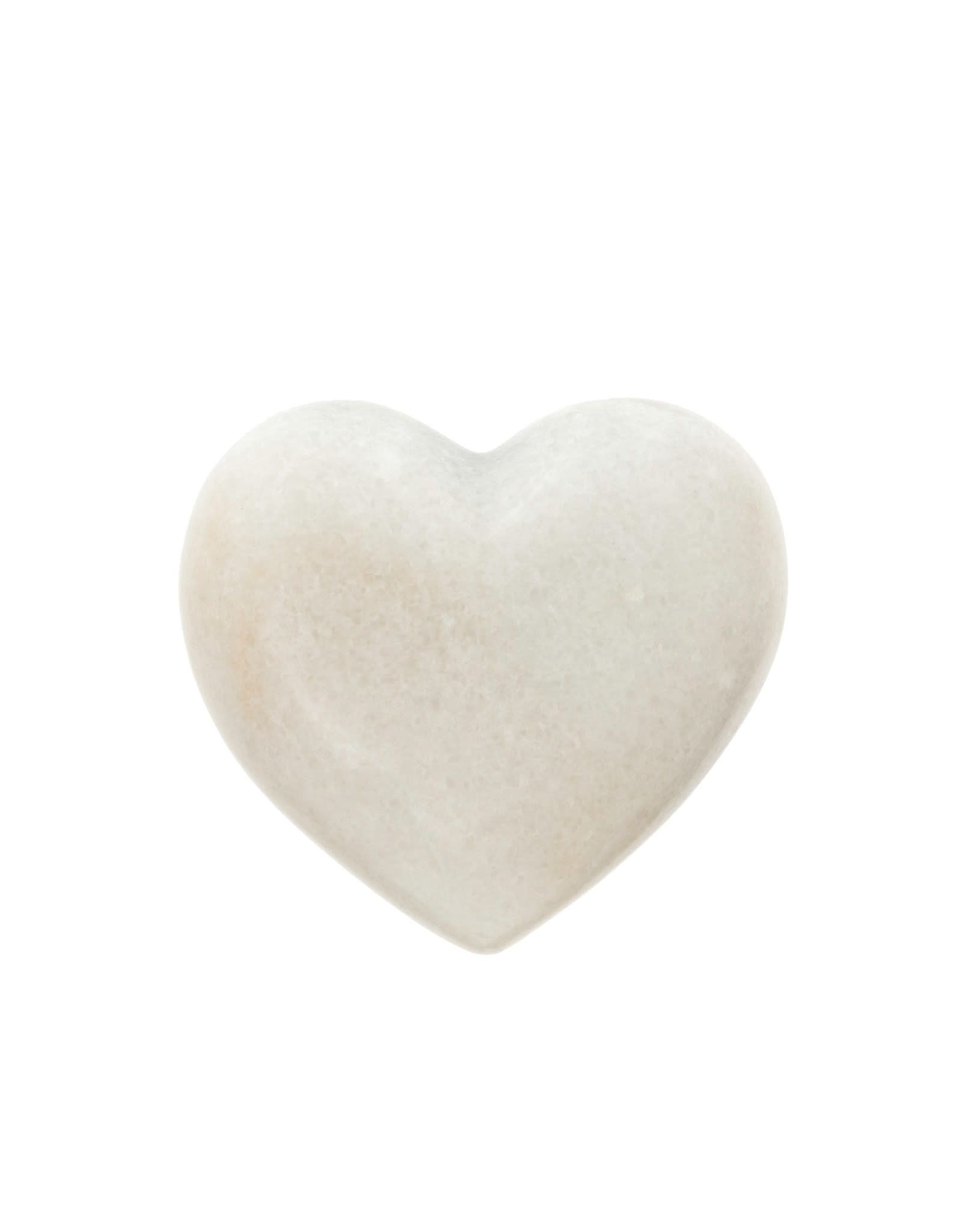 Indaba White Marble Heart - Small