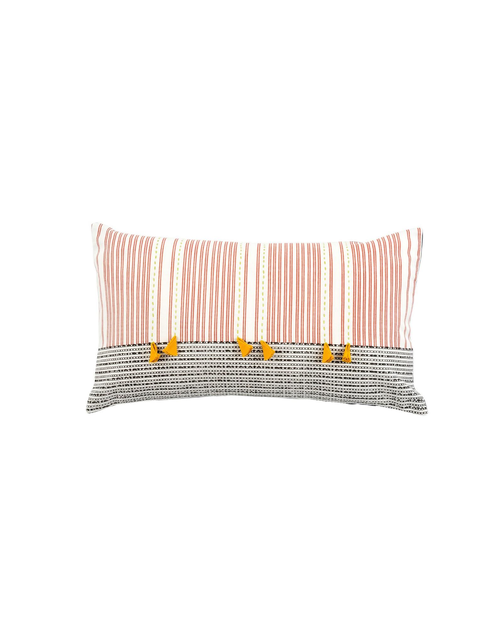 Indaba Kolkata Pillow - 6 Yellow Tassels