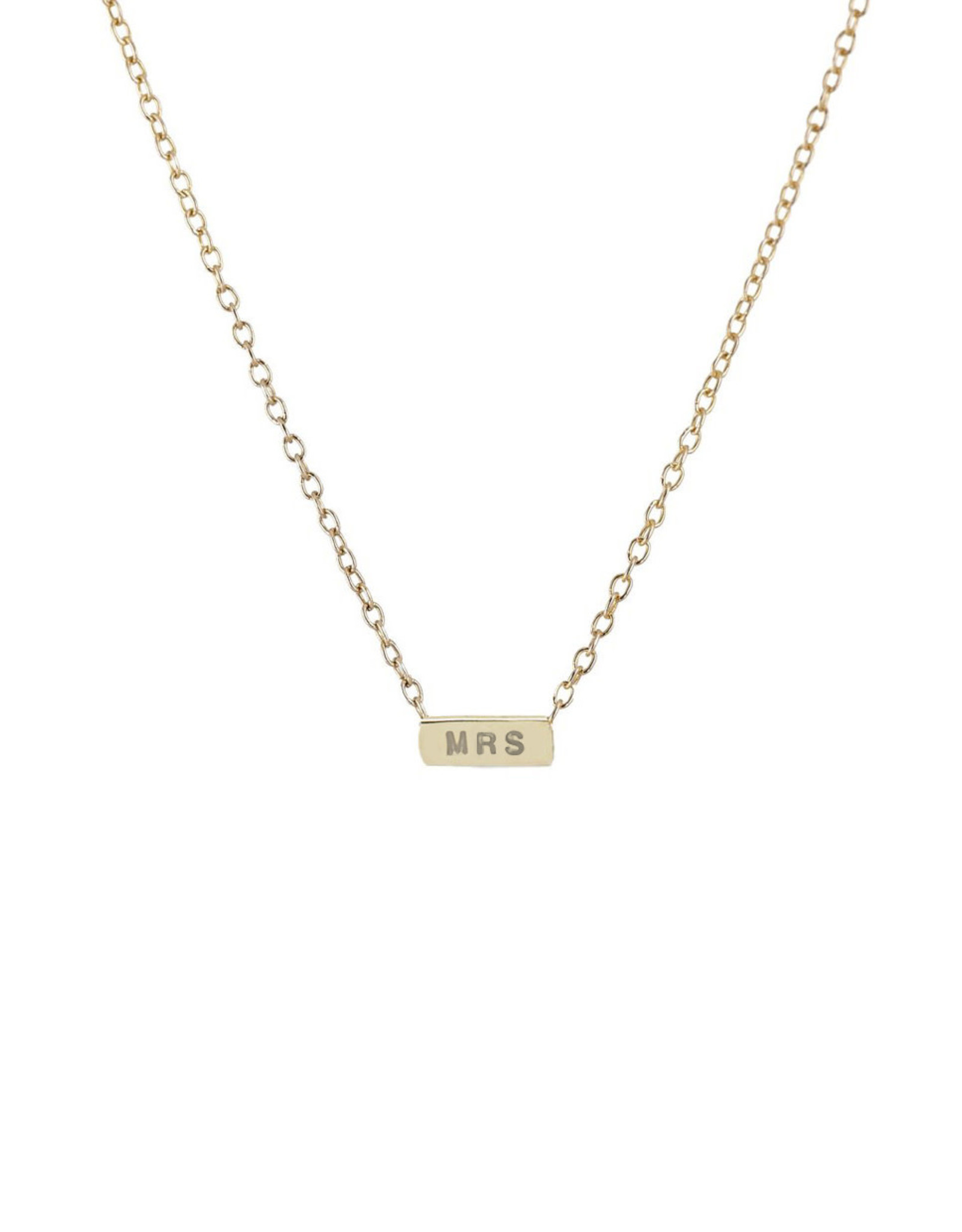 Scosha 'MRS' Necklace - Gold