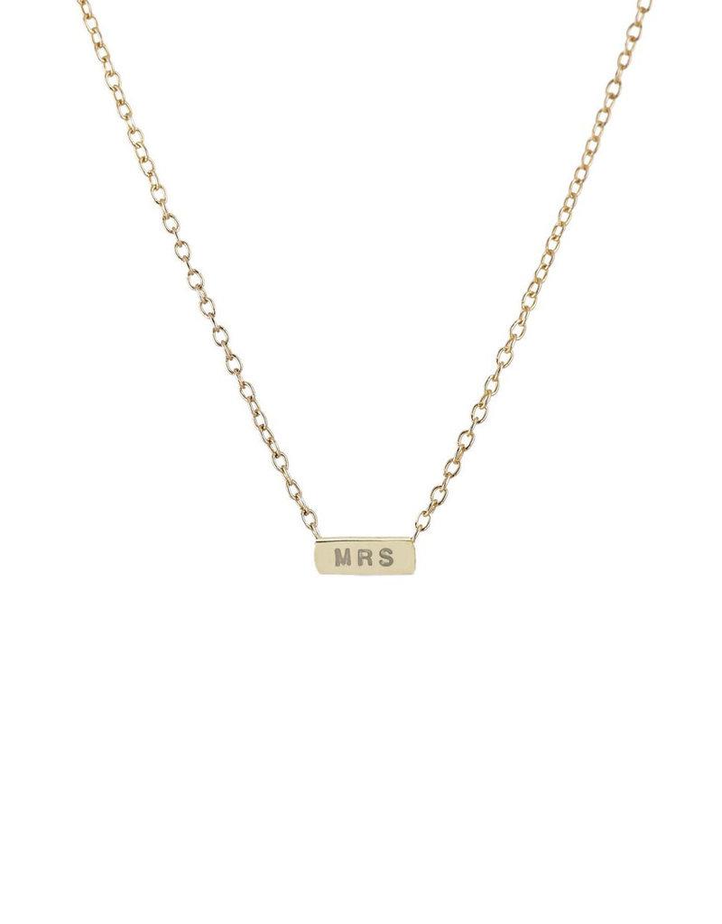 Scosha 'MRS' Necklace - Gold
