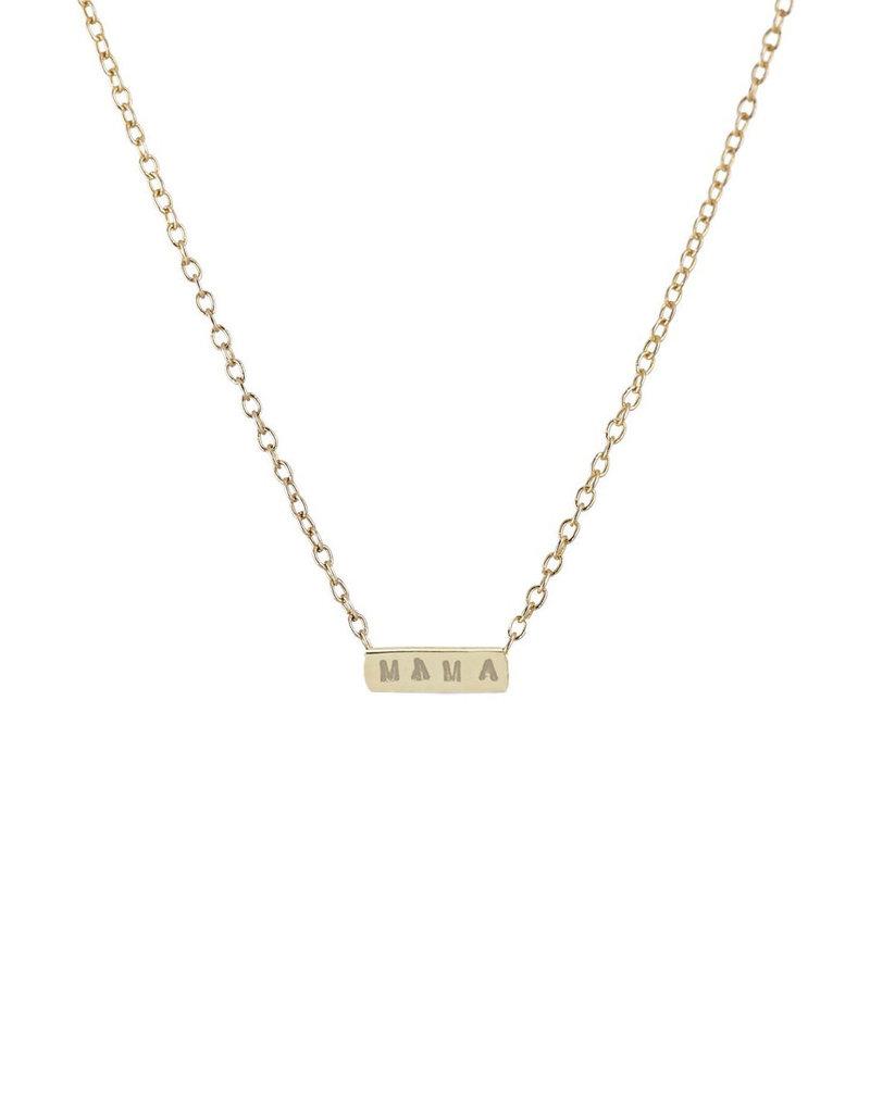 Scosha 'MAMA' Necklace - Gold