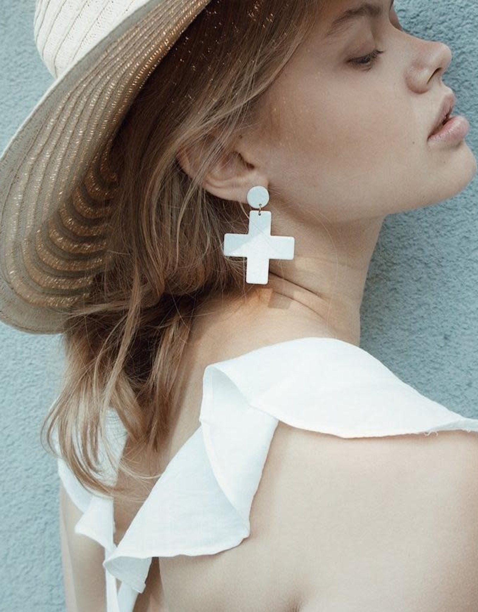Vayu Jewels Yuma Earrings - Blush