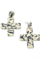 Vayu Jewels Yuma Earrings - Marble