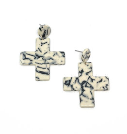 Vayu Jewels Yuma Earrings - Marble